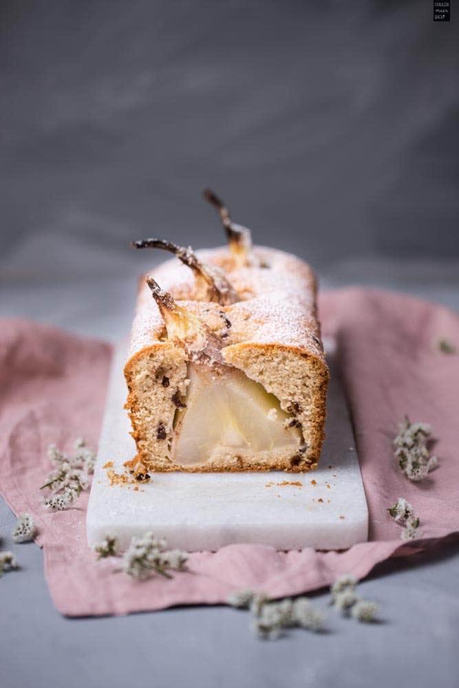 Fraeulein Meer backt Birne-Nuss-Kuchen