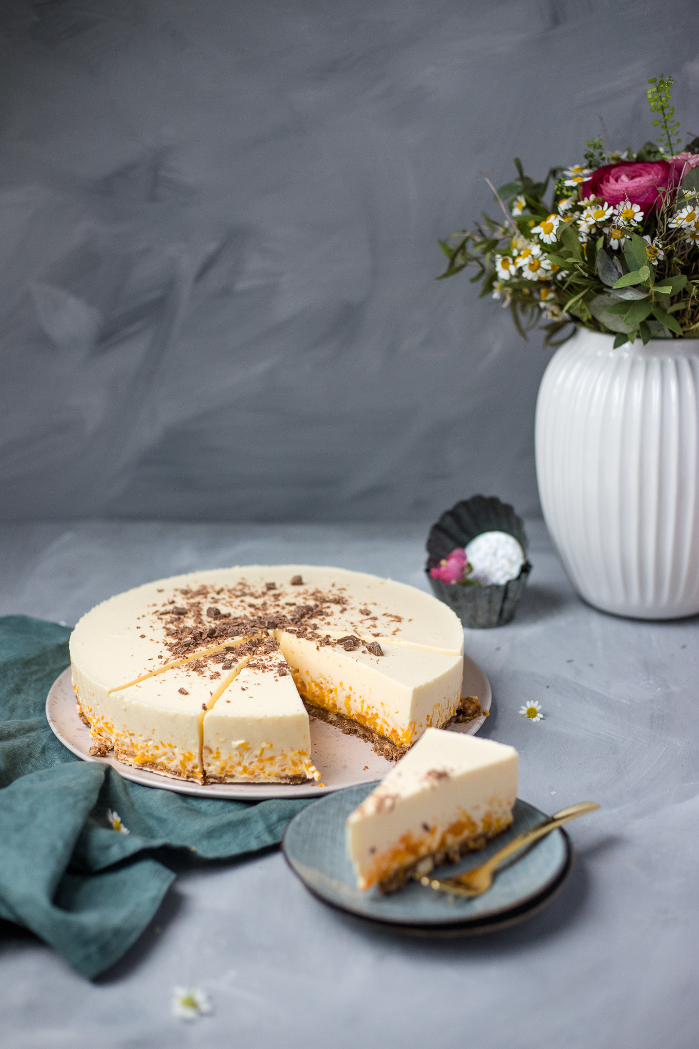 Fraeulein Meer backt Mandarinen Nougat Torte