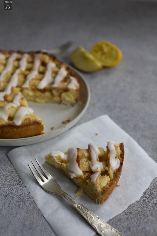 Fraeulein Meer backt Gedeckter Apfelkuchen