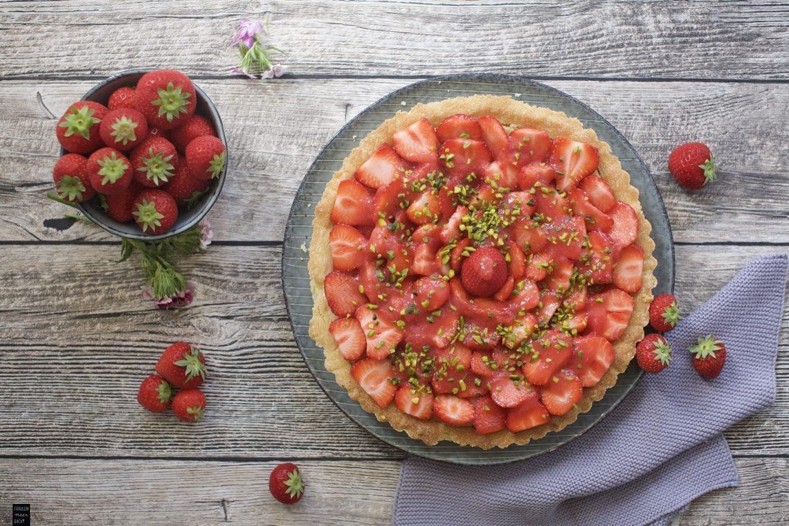 Fraeulein Meer backt Erdbeertarte mit Frischkäse