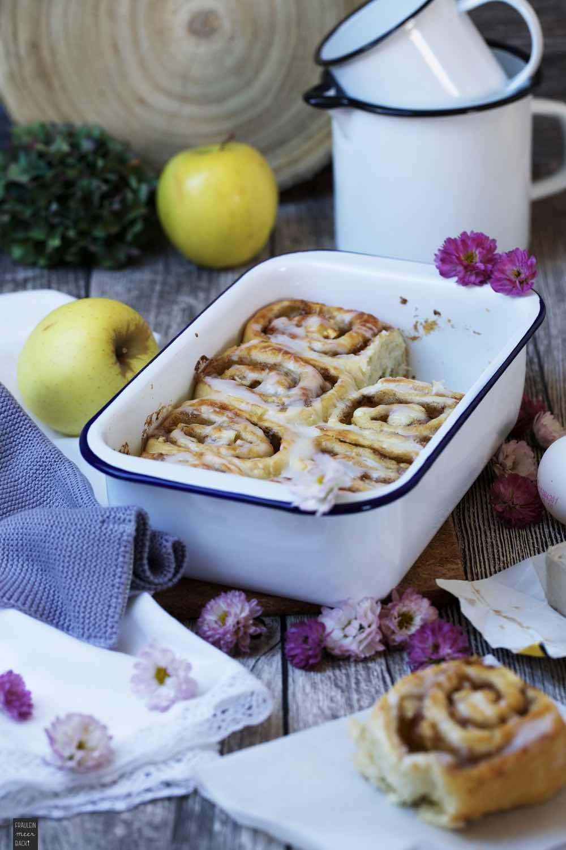 Fraeulein Meer backt Apfel Zimtschnecken