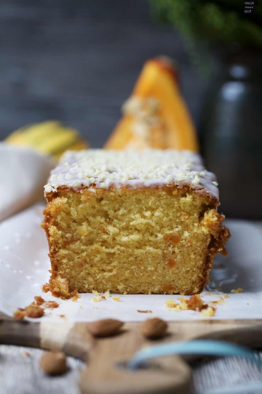 Kurbis Honig Kuchen Mit Zuckerguss Fraulein Meer Backt