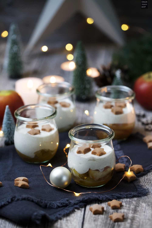 Fraeulein Meer backt Bratapfel-Zimtcreme-Dessert im Glas