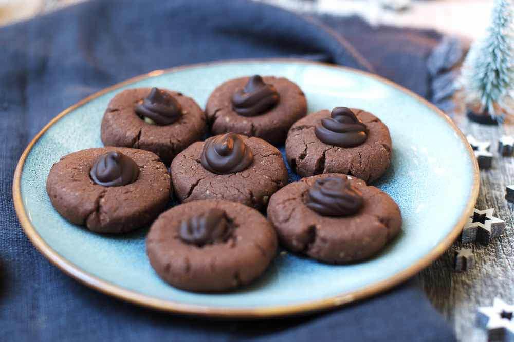 Schokoladen Plätzchen Mit Haselnüssen Fräulein Meer Backt