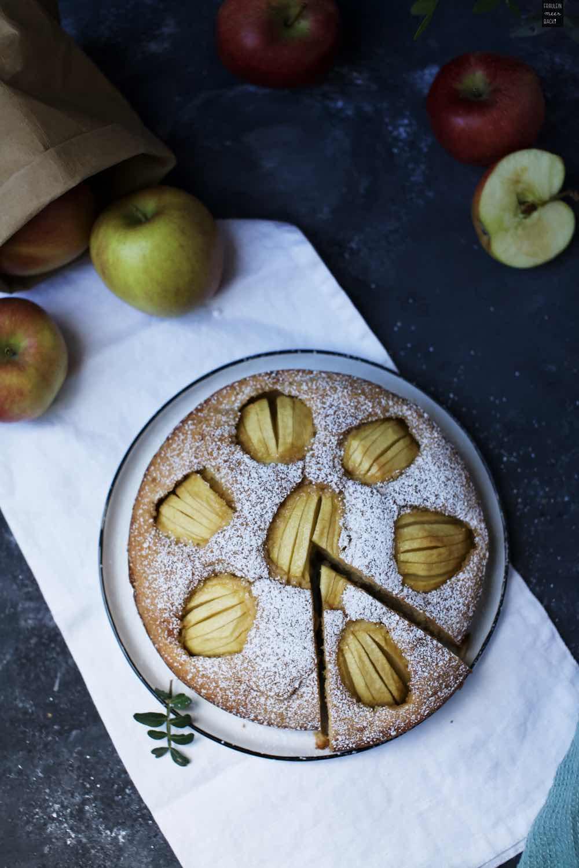 Fraeulein Meer backt Versunkener Apfelkuchen