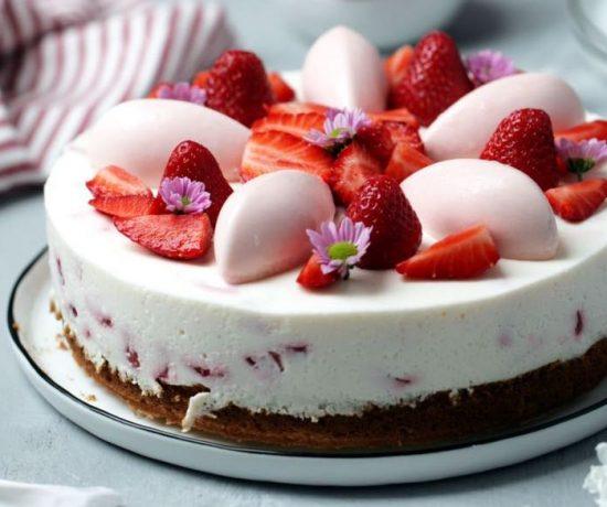 Fraeulein Meer backt Erdbeer Joghurt Kuchen