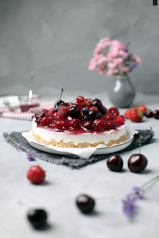 Rote Grutze Torte No Bake Kuchen Fur Den Sommer Fraulein Meer Backt