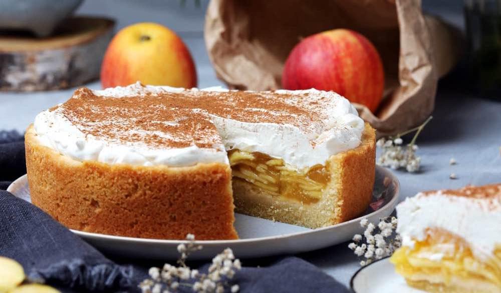 Apfel Quark Kuchen Mit Zimt Fraulein Meer Backt