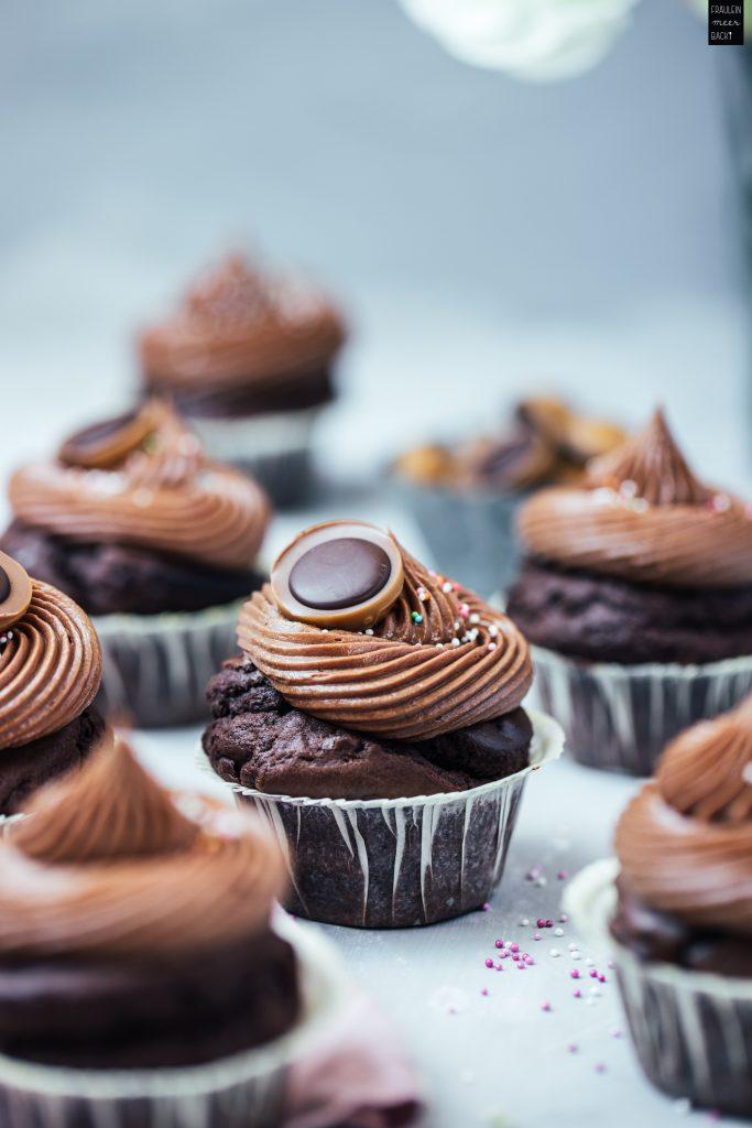 Fraeulein Meer backt Schokoladen Cupcakes