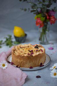 Fraeulein Meer backt Rhabarber Pudding Kuchen