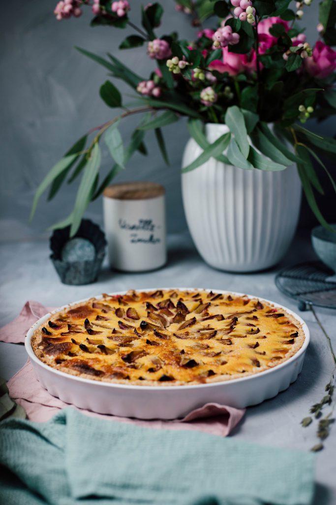 Fraeulein Meer backt Zwetschgen Tarte mit Pudding