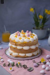 Fraeulein Meer backt Pfirsich-Biskuit-Torte