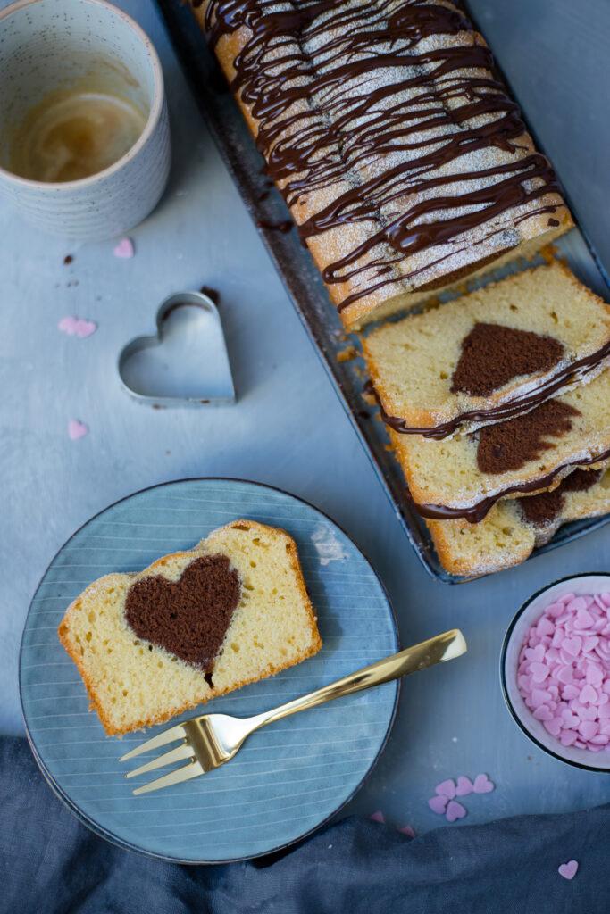 Fraeulein Meer backt Marmorkuchen Valentinstag